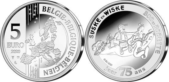 Belgium 5 euro 2020 - 75 years of Suske en Wiske