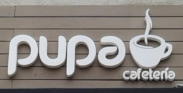"""Letras en Polyfan """"PUPA CAFETERÍA"""""""