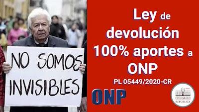 Devolución 100% de aportes a la ONP apoya la ley AQUI Congreso del Perú