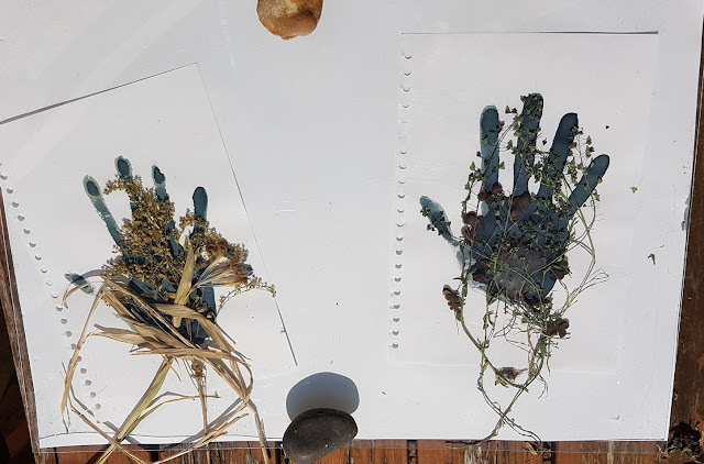 whoopidooings: Carmen Wing Cyanotype Handprints