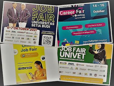 Jadwal Job Fair Lengkap di Bulan Oktober 2021