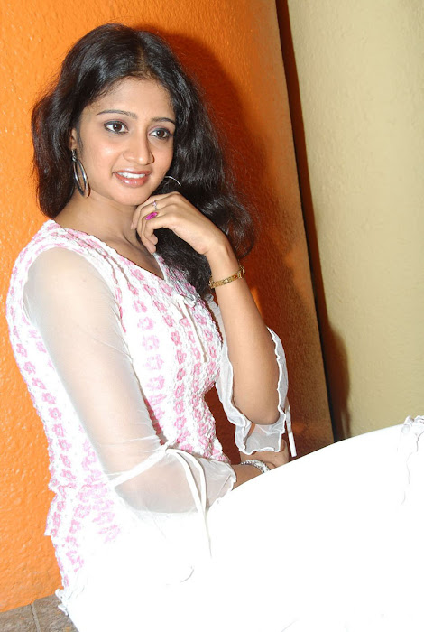 sandeepthi in white dress