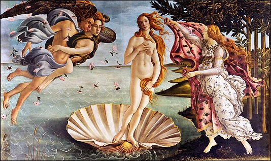 Sandro Botticelli, Birth of Venus, 1486