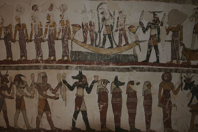 Paintings from the tomb of Petosiris at Muzawaka (XIV)