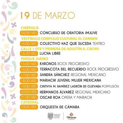 programa festiva tehuacán 2020 19 de marzo