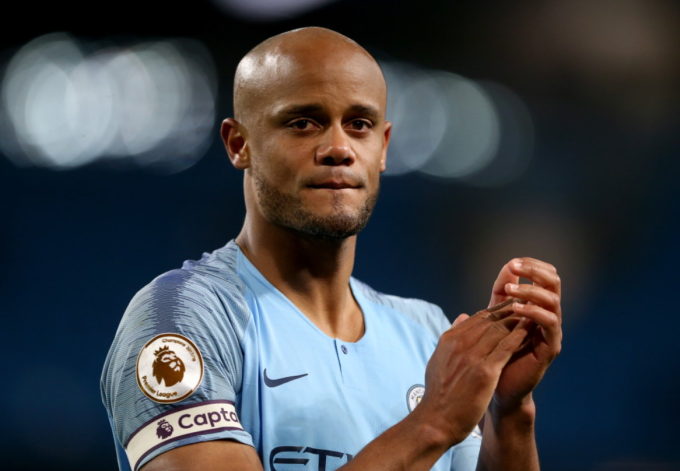 Vincent Kompany of Man City
