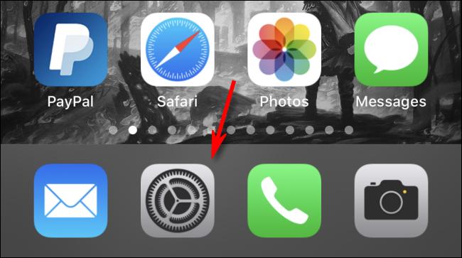 افتح الإعدادات على iPhone