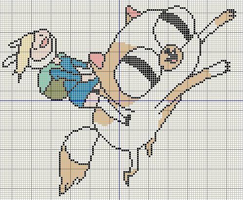 Buzy Bobbins Adventure Time With Fionna And Cake Cross Stitch Design