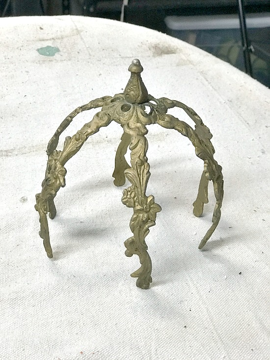 Metal lamp parts for a garden project