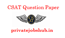 CSAT Question Paper
