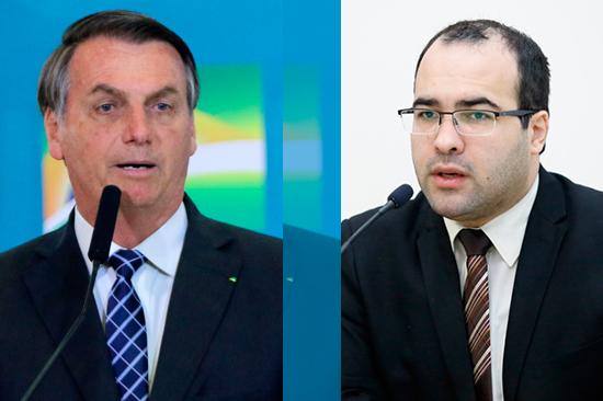 O presidente Jair Bolsonaro e o vereador Jean Marques – Fotos: Agência Brasil e CMM