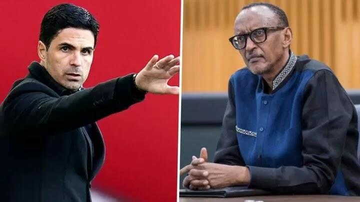 Arteta responds to Kagame after Twitter outburst
