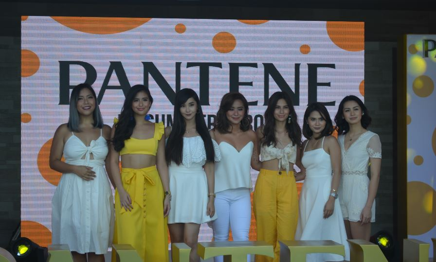 The ambassadors of Pantene Philippines.