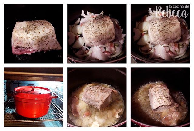 Receta de lomo de cerdo a la cerveza asado en cocotte: horneado