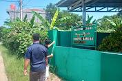 jelang puasa, karang taruna dusun satu rawajeler ,adakan penyemprotan disinfektan  di masjid jami Khoerul bariyah kp.rawajeler