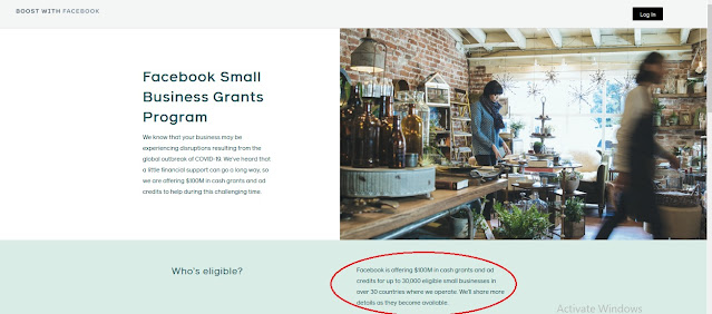Facebook small business grant