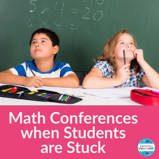 Strategies for math conferences when students are stuck