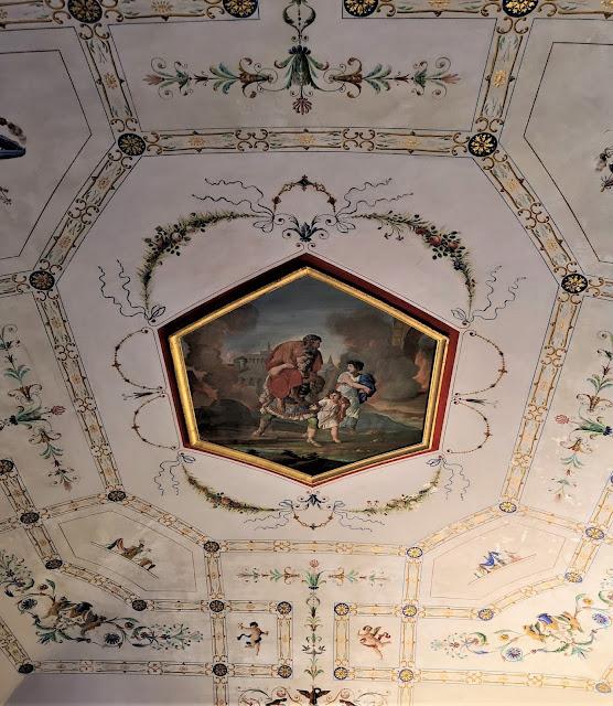 Soffitta della stanza studio della Casa Natale di Gabriele D'Annunzio