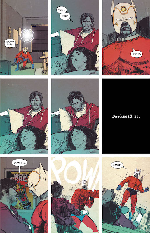 Mister Miracle #1: Story: Tom King Art: Mitch Gerads Letters: Clayton Cowles Cover: Nick Derington  Mister Miracle/Scott Free created by Jack Kirby.