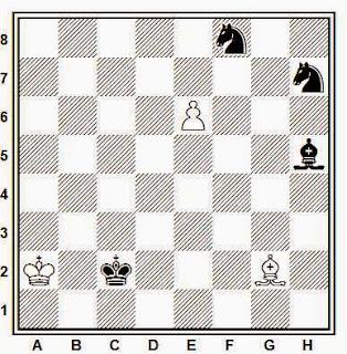 Estudio artístico de ajedrez compuesto por E. Paoli (Publicado en ¿?, 1966)