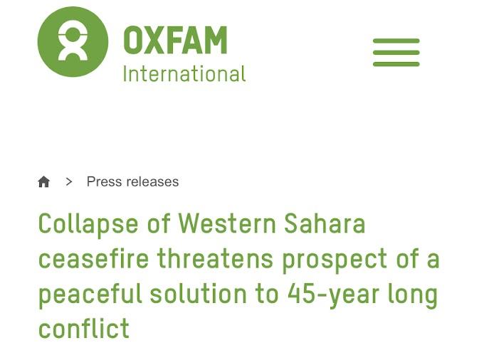 أوكسفام تدق ناقوس الخطر بشأن الوضعية الإنسانية في مخيمات اللاجئين الصحراويين عقب عودة الحرب إلى الصحراء الغربية.