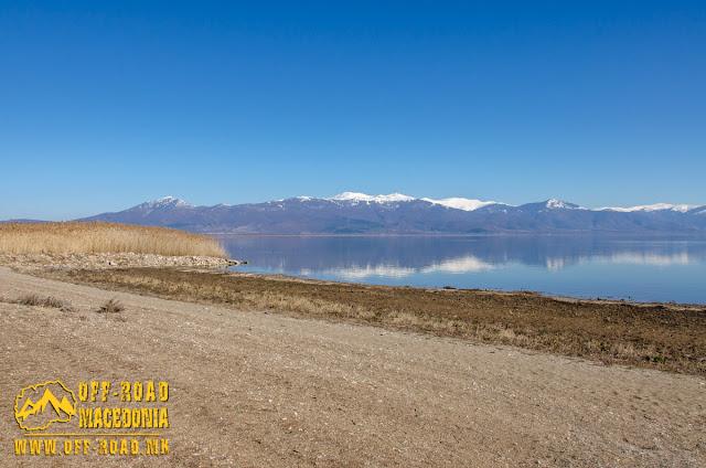 View towards Baba Mountain - Lakeview Resort, Otesevo, Prespa Lake, Resen Municipality, Macedonia