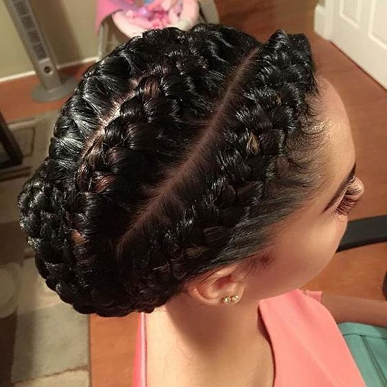 Goddess Braids Updo Hairstyles For Black Women