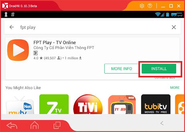 Cách tải FPT Play về máy tính Win 7, Win 10 đơn giản nhất với giả lập Android Droid4X b