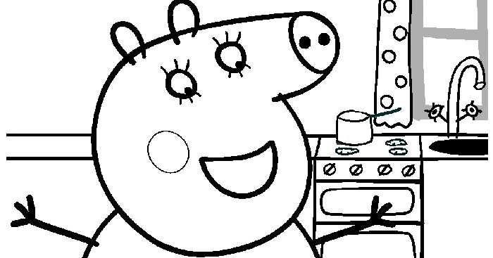 Peppa pig disegno da colorare n 2 for Maschere di peppa pig da colorare
