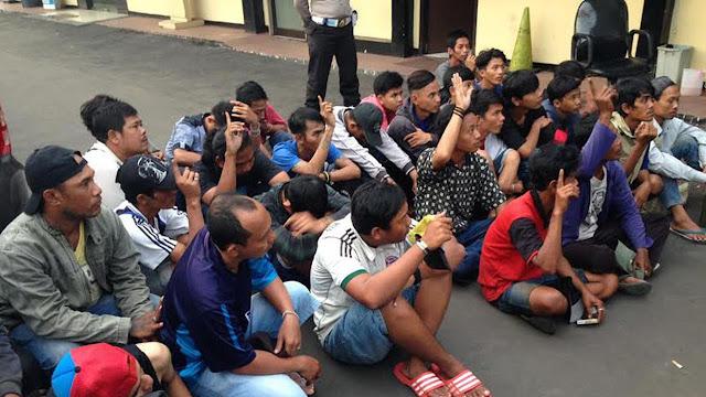 Menjelang Natal Polisi mengamankan 246 Preman