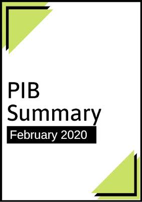 PIB Summary: February 2020