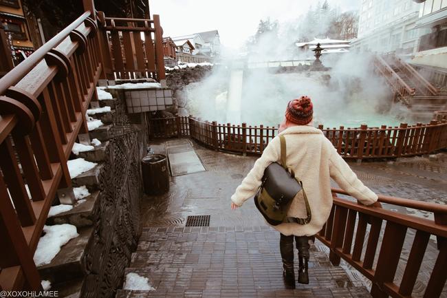 Japanese Fashion Blogger,MizuhoK,20180108-09,TRIP=KUSATSU ONSEN & SNOWBOARDING