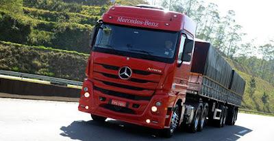 Mercedes-Benz aumenta vendas de caminhões extra pesados no Sul