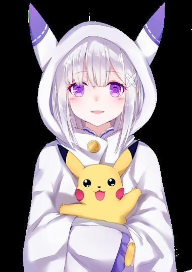 RENDER Emilia y pikachu