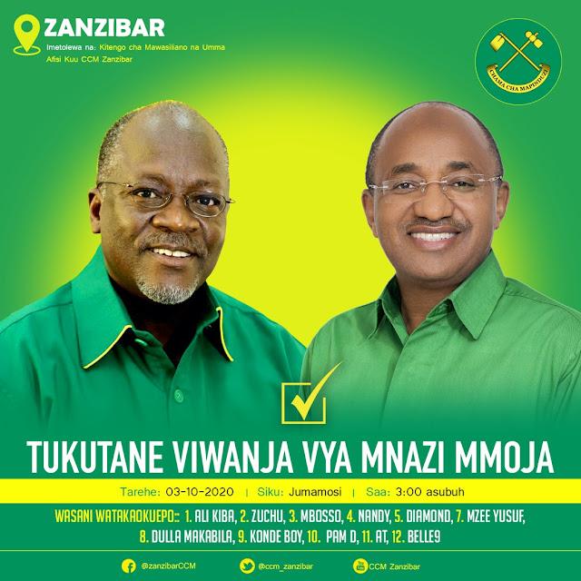 John MAGUFULI Ndani ya Zanzibar...Kuunguruma Kesho 03 October, 2020