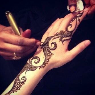 Draw Arabic Mehndi Designs For Back Hands
