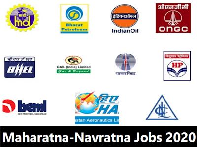 Latest Maharatna-Navratna govt jobs recruitment