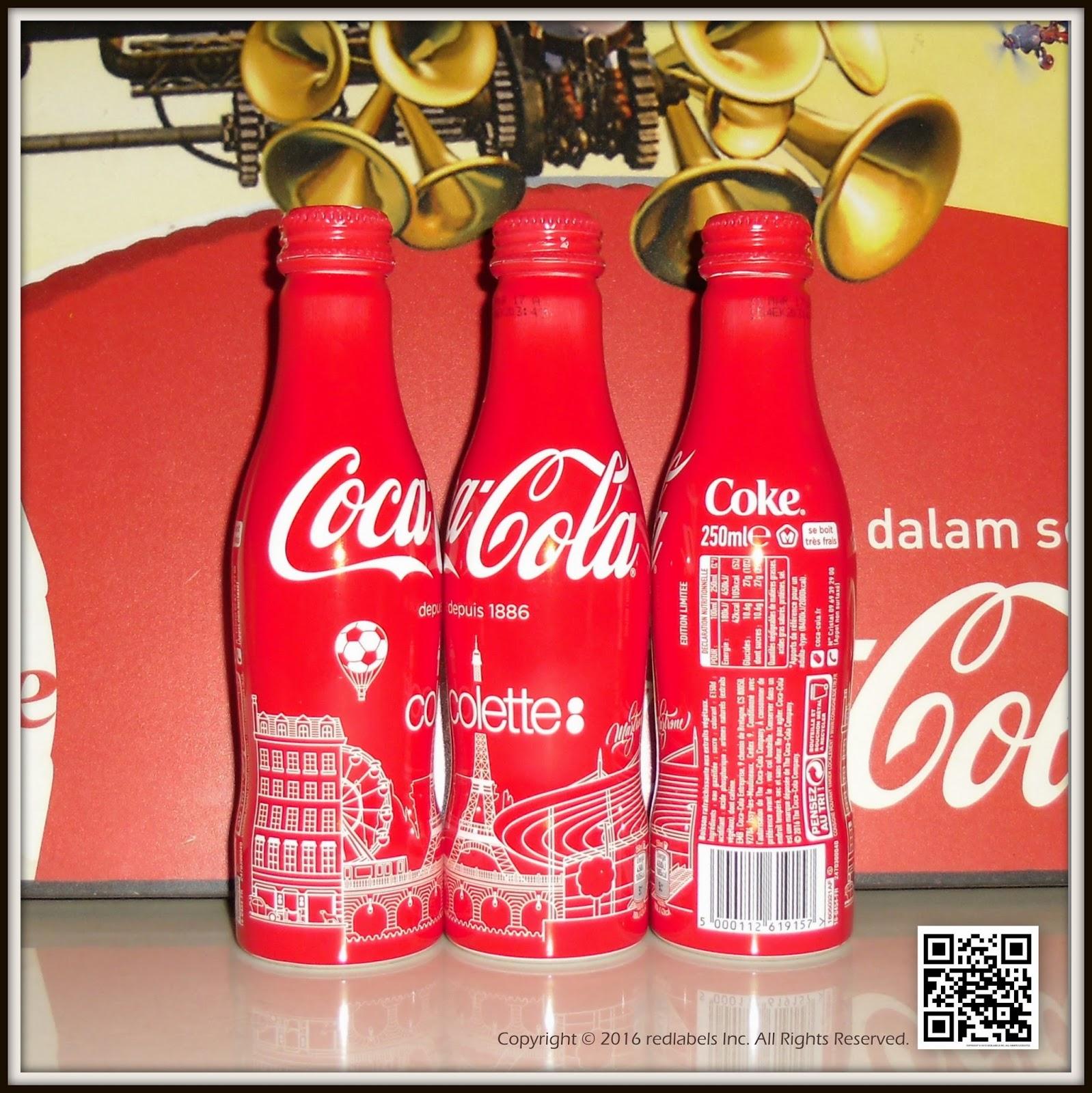 aluminum bottle collector club coca cola colette celebrate football aluminum bottle france 2016. Black Bedroom Furniture Sets. Home Design Ideas