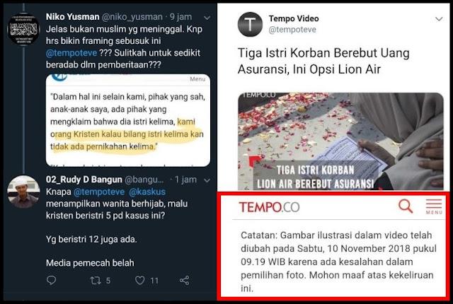 Warganet Protes Framing Berita, Tempo Akhirnya Hapus Foto Muslimah dan Minta Maaf
