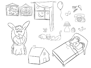 coloring pages goodnight moon - photo#36