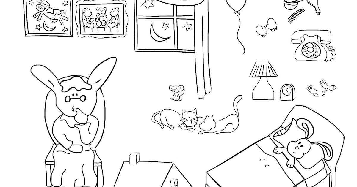 printable goodnight moon coloring pages - photo#12