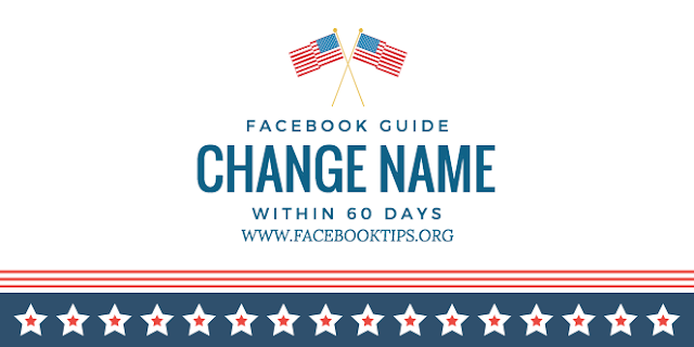 How to change name in Facebook within 60 days