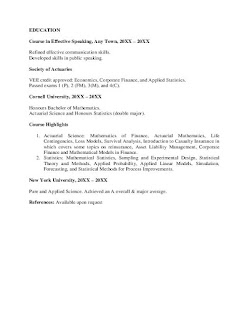 Actuarial Analyst Resume Examples