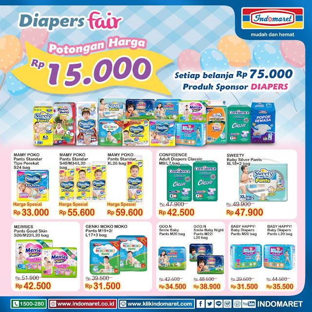 #Indomaret - #Promo Diaper Fair Dapatkan Potongan Harga 15K (s.d 01 Nov 2019)