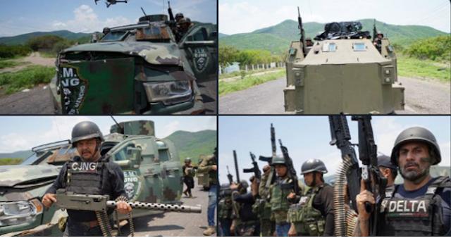 Video: Quisieron verse bien bravos! pero El CJNG solo demostró debilidad con sus armas y blindados que son superados fácilmente por ejercito
