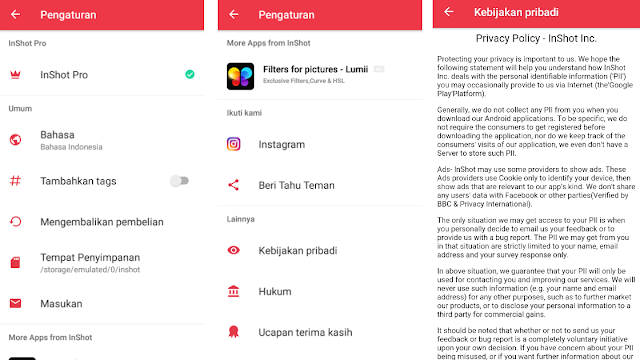 [Review App] Download Inshot Mod Apk Pro 2020 Full Filter, Full Effect, Full Pack Unlock Versi Terbaru (Aplikasi Android)
