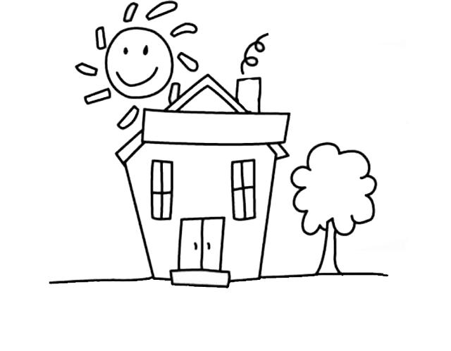 Mewarnai Gambar Rumah - 2