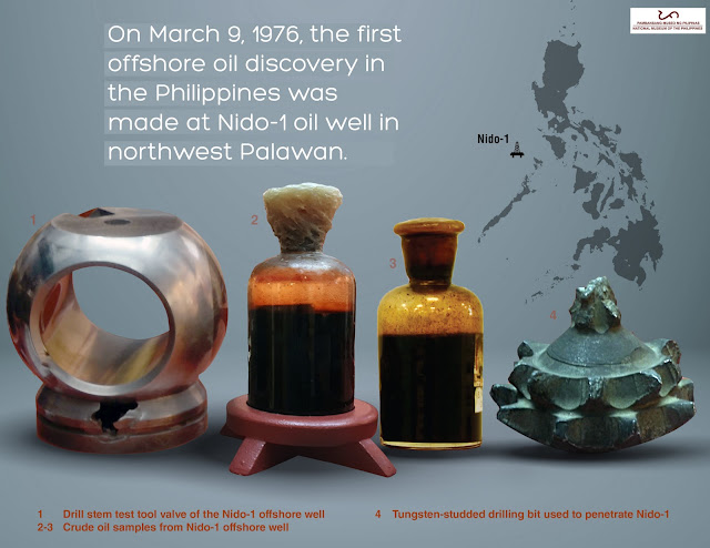 first oil sample from the Nido-1 well in Palawan taken after their first successful extraction