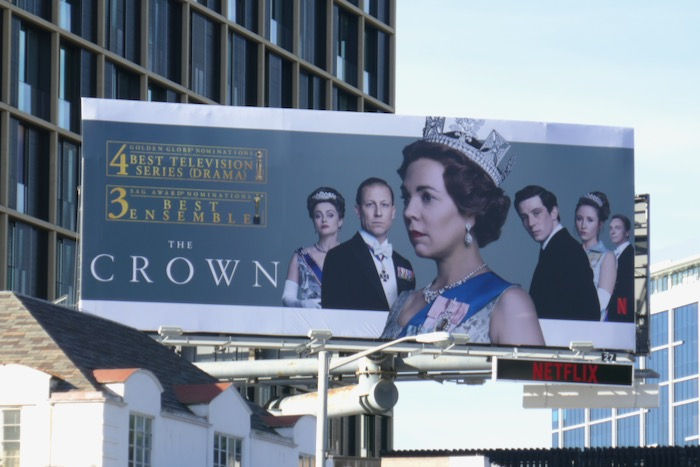 Crown season 3 Golden Globe billboard