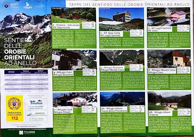 Sentiero delle Orobie Orientali ad Anello. The official trail map.